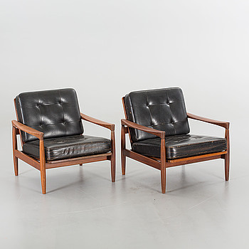 "ERIK WØRTS, ERIK WØRTS, a pair of 1960's ""Kolding"" armchairs."