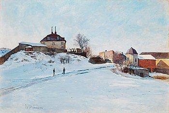 ANTON GENBERG, duk, signerad A. Genberg och daterad Stockholm 1892.