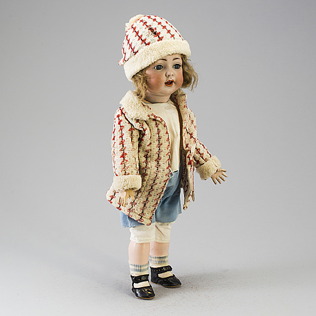 A bisque headed doll, germany, early 20th century.