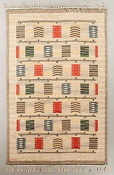 CARL DANGEL, matta, rölakan, signerad CD, 264 x 169 cm, Sverige omkring 1900-talets mitt.