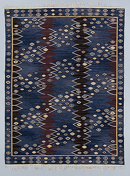"BARBRO NILSSON, CARPET. ""Snäckorna"". Tapestry weave. 253 x 192 cm. Signed AB MMF BN."