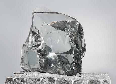 Timo sarpaneva, a glass sculpture. butterfly. signed  butterfly part i/ii, ii/ii, timo sarpaneva, finland 1989.