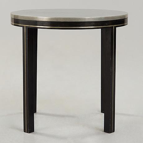 Alvar andersson, a pewter top table probably by alvar andersson, hyrasgästernas möbelaffär, stockholm 1930.