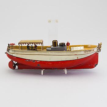 ÜBERLACKER, flodbåt, Tyskland, 1900-talets början.