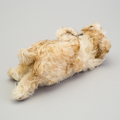 A steiff bag in the shape of a dog, germany, 1926 1934