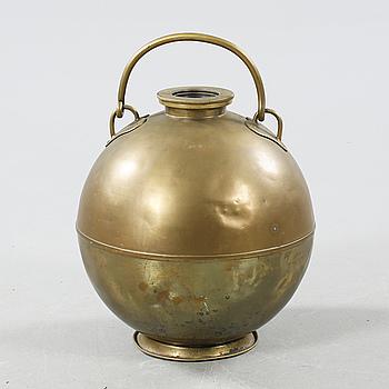A 19th century brass object from Skultuna Bruk.