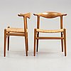 Hans j wegner, a set of six hans j. wegner 'cowhorn'chairs' 'jh-505, executed by cabinetmaker johannes hansen, denmark 1950-60.