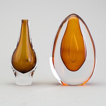 MONA MORALES-SCHILDT, objekt samt vas, glas, Kosta 1960-tal.