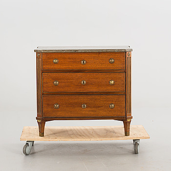 A GUSTAVIAN STYLE DRAWER EARLY 19TH CENTURY.