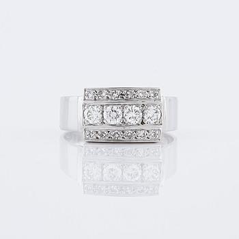 RING, med briljant och åttkantslipade diamanter, 0.52 ct, Jan Irme, Stockholm, 1976.