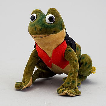 "A Toy figure, ""Frog Ball"", Steiff, Germany, approximately in 1956."