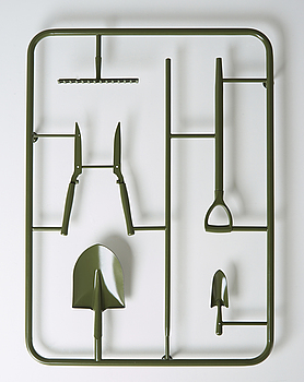 MICHAEL JOHANSSON, object in welded spray painted metal, executed in 2013, edition of 3.