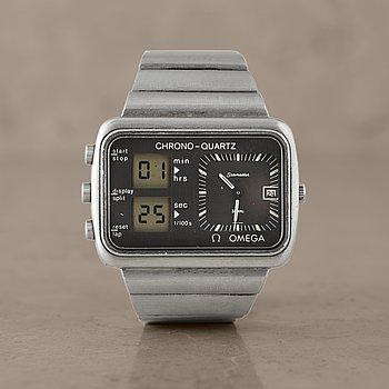 "15. OMEGA, Seamaster, Chrono-Quartz, ""Albatros"", wristwatch, 46,7 x 34 mm,"