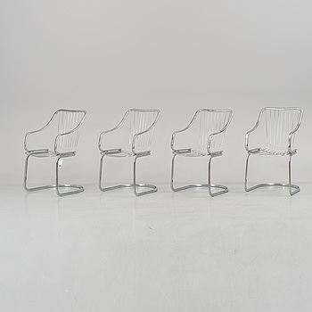 A set of 4 chairs, late 1900's.