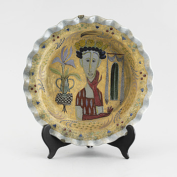 BIRGER KAIPIAINEN, skålfat, keramik, Arabia, signerat.
