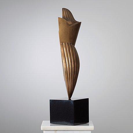 "Christian berg, ""kvinnlig abstraktion"" (klyvarskulptur)."