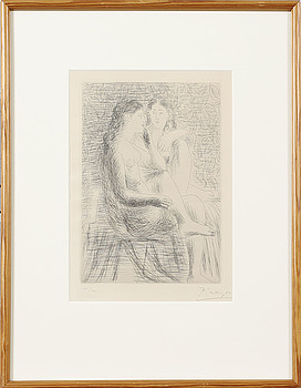 PABLO PICASSO, PABLO PICASSO, drypoint, signed Picasso and numbered 41/100, 1930.