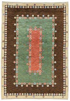 "111. A CARPET, ""Tusenskönan"" (""Bellis""), knotted pile, 340,5 x 231,5 cm, signed AB MMF."