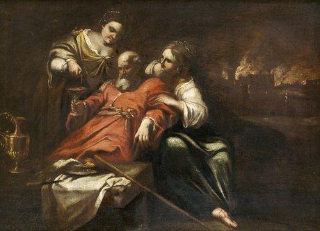 Jacopo amigoni tillskriven, lot och hans döttrar