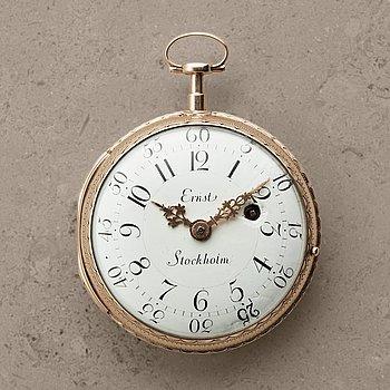 103. PETTER ERNST (1714-1784), Stockholm, pocket watch, 61 mm,