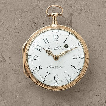 104. JACOB KOCK, (1737-1805) Stockholm, pocket watch, 56,5 mm,