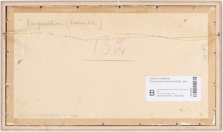 """Esaias thorén, """"komposition (horisontal)"""" (composition [horizontal] )."""
