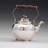 A swedish 18th century parcel-gilt tea pot, mark of jonas thomasson ronander, stockholm 1774.
