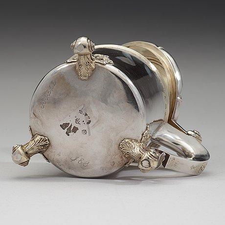 A swedish 18th century parcel-gilt tankard, mark of jonas jaderstedt, vasteras 1759.