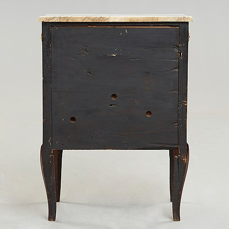 A gustavian commode signed and dated by georg haupt 1784 (master in stockholm 1770-84).