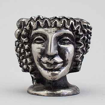 "A ""The Janus head"" vase, Anna Petrus for Firma Svenskt Tenn 1993."