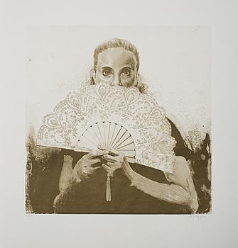 """ALEXANDER KLINGSPOR, """"Solfjäder"""", signerad och numrerad 94/150."""
