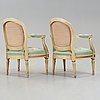 A pair of late 18th century probably danish armchairs.