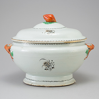 TERRIN, kompaniporslin, Qingdynastin, Qianlong (1736-95).