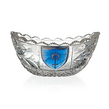 131. A small Russian glass bowl, Imperial Glass Manufactory, St Petersburg, 19th century.