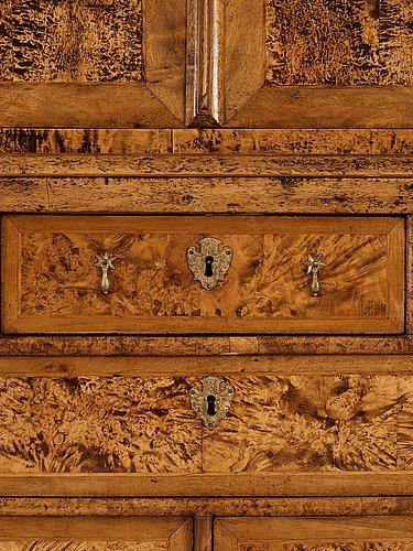 A swedish late baroque 18th century cupboard.