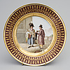 A russian porcelain plate rom the guriev service, imperial porcelain factory 1809 1816, the time of alexander i