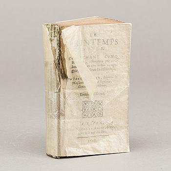 Le Printemps D'Yver ; Contenant cinq histoires, discourues par cinq iournées... Jacques Yver, 1618.