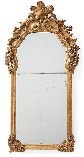 A presumably german rococo mirror.