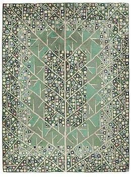 "114. A CARPET, ""Katarina, grön"", knotted pile, 238 x 208 cm, signed AB MMF BN."