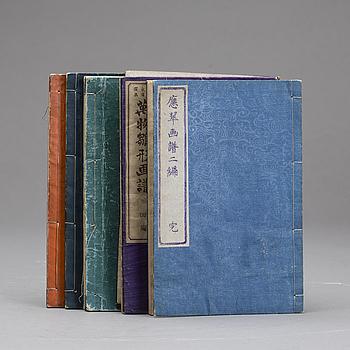 JAPANSKA BÖCKER, 5 st, Omkring 1900.