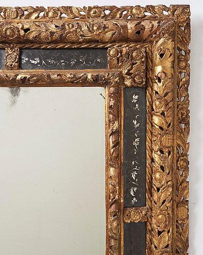 A baroque circa 1700 mirror.