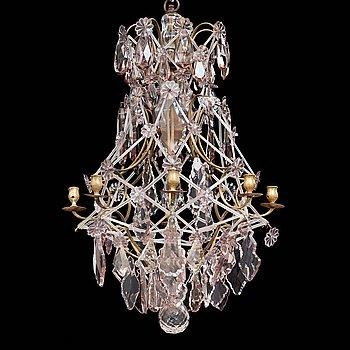 LJUSKRONA, för åtta ljus, rokokostil, 1800-talets andra hälft.