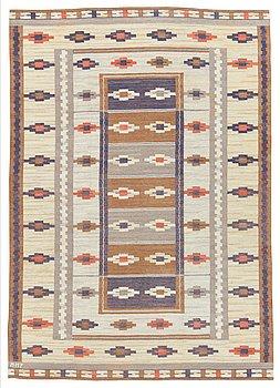 """116. A CARPET, """"Ljusa mattan"""", flat weave, 284,5 x 203,5 cm, signed MMF."""