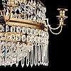 A late gustavian fifteen-light chandelier by c. h. brolin (1765-1832).