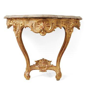 22. A Swedish Rococo mid 18th century console table.