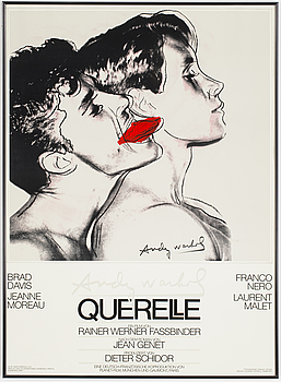 FILMAFFISCH, med motiv efter Andy Warhol, 'Querelle', 1983.