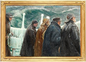 183. Michael Ancher, At the bridge.