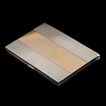 ETUI, silver, 18K guld, onyx. Alfred Dunhill, Paris 1940-tal.