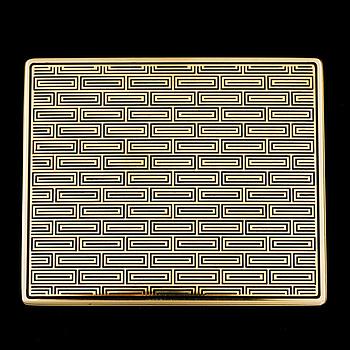 ETUI, 18K guld, svart emalj.