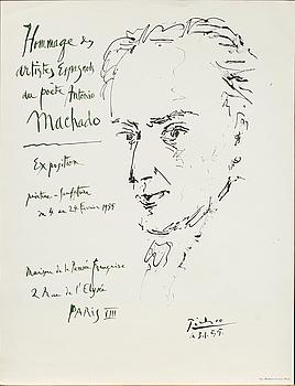PABLO PICASSO, A PABLO PICASSO POSTER, printed by Imprimerie du Lion Paris 1955, 700 ex.